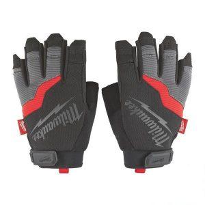 Перчатки рабочие с открытыми пальцами MILWAUKEE размер 8/М (48229731)