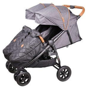 Прогулочная коляска COLETTO Enzo Twin (темно-серый)