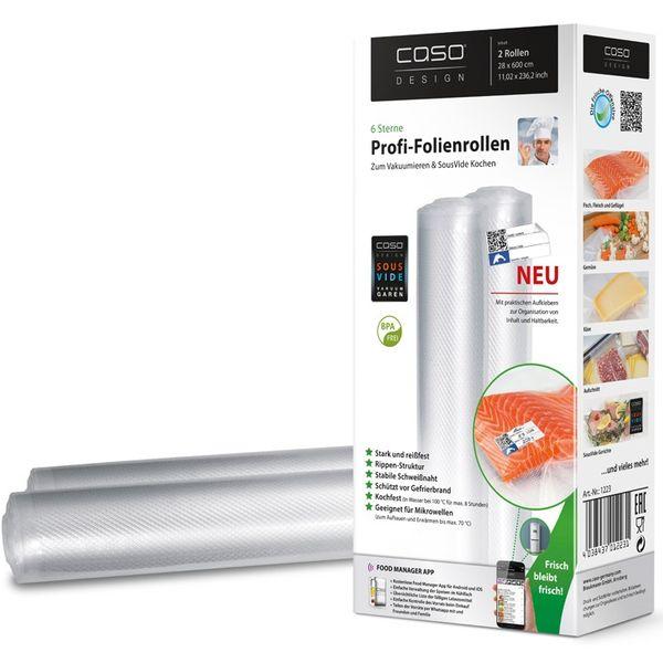 Рулоны для вакуумной упаковки CASO VC 28 х 600 см