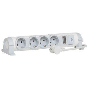 Сетевой фильтр Legrand 494810 с держателем для планшета (бело-серый)