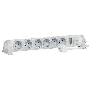 Сетевой фильтр Legrand Комфорт и безопасность 694646 (бело-серый)