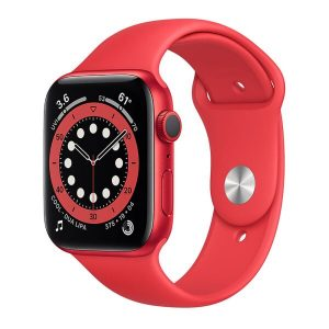 Смарт-часы APPLE Watch Series 6 Red Aluminium Case with Red Sport Band 44mm (M00M3UL/A)