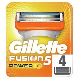 Сменные кассеты GILLETTE Fusion5 Power 4шт (7702018877591)