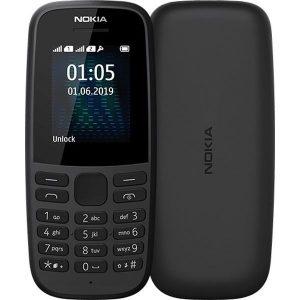 Телефон Nokia 105 черный (TA-1174)